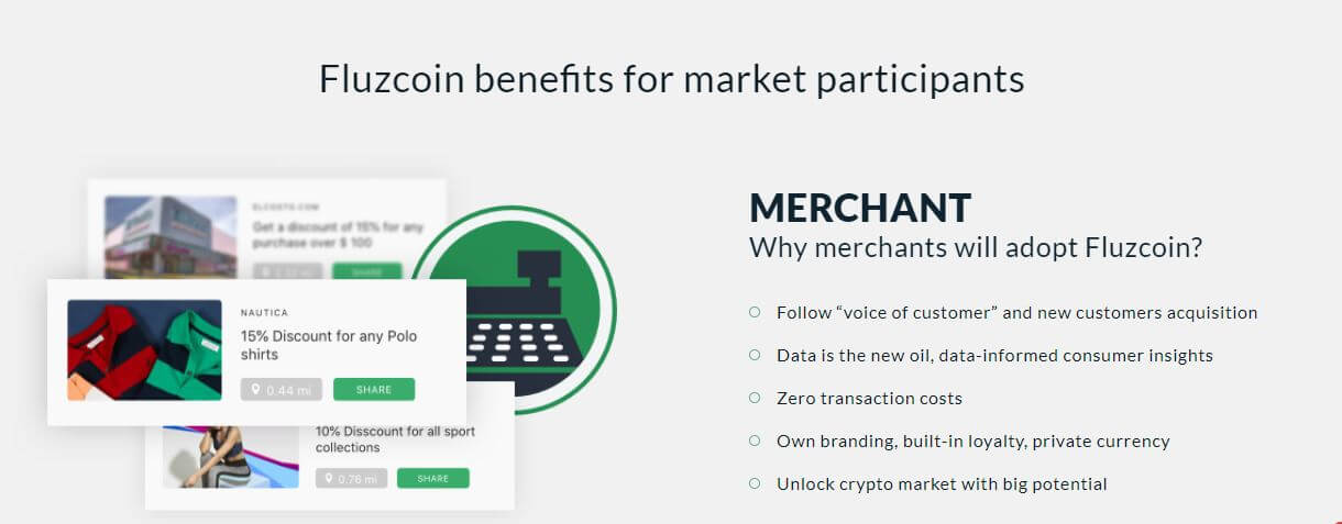 Fluzcoin benefits for market participants